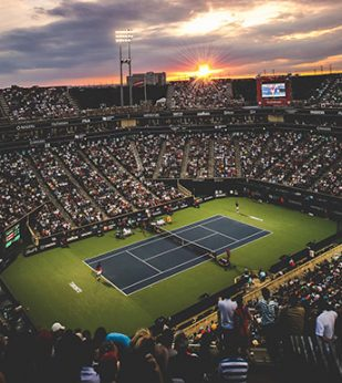 Professional tennis Match Arena