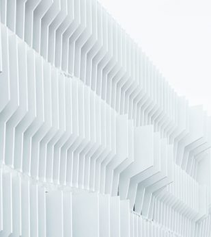 White architectural angles