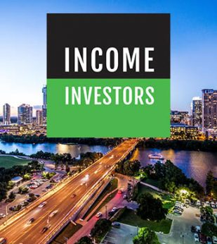 Texas skyline with Income Investors logo overlayed