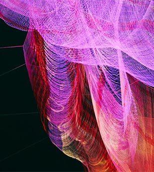 brightly colored digital net
