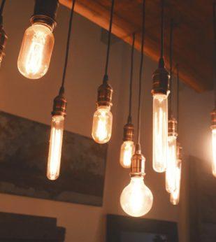 Edison bulb light chandelier