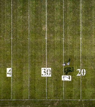 football field being painted