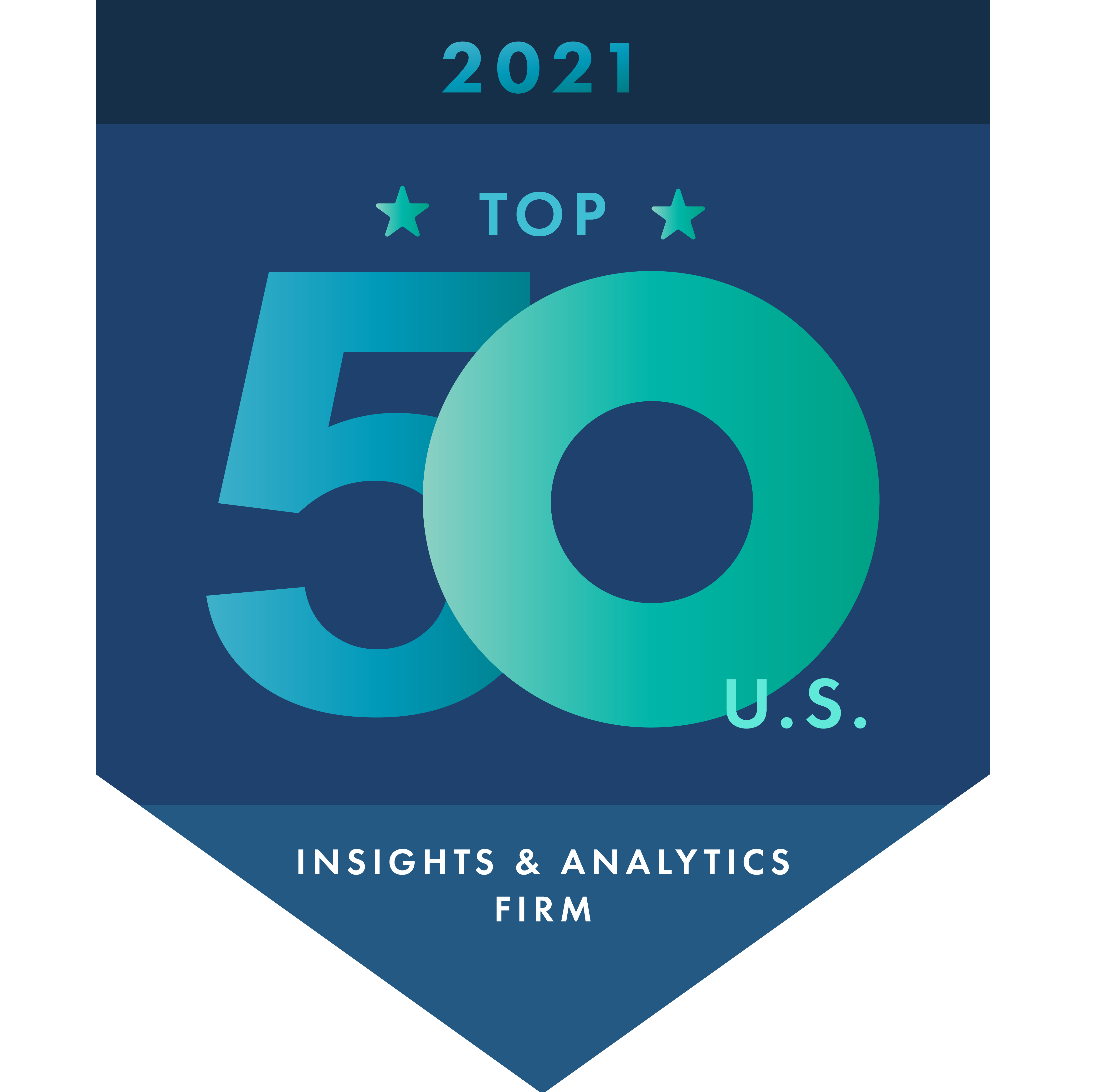 2021 Top 50 Insights and Analytics Firms logo