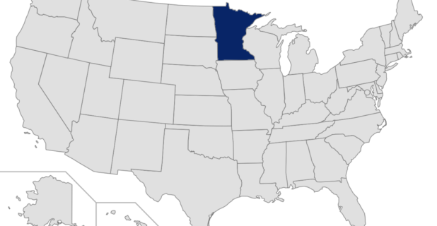 Map of the United States with Minnesota highlighted