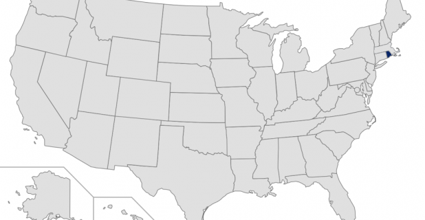 Rhode Island highlighted on map