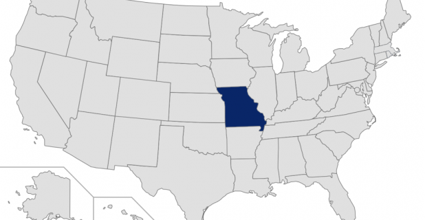 Missouri highlighted on map